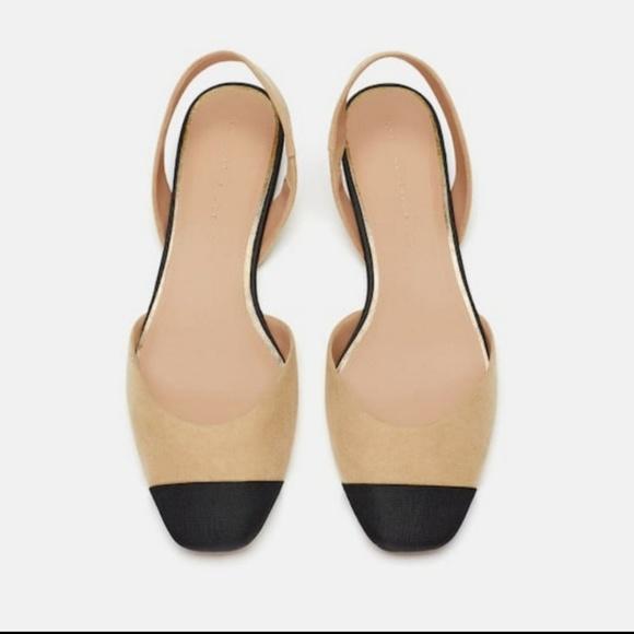 1263abb4f4 Zara Shoes | Flat Slingbacks Nwt Size 8 39 | Poshmark